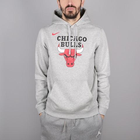мужскую серую  толстовка nike chicago bulls hoodie AA3653-063 - цена, описание, фото 1