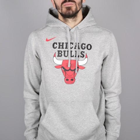 мужскую серую  толстовка nike chicago bulls hoodie AA3653-063 - цена, описание, фото 2