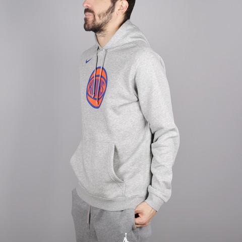 мужскую серую  толстовка nike new york knicks hoodie AA3683-063 - цена, описание, фото 3