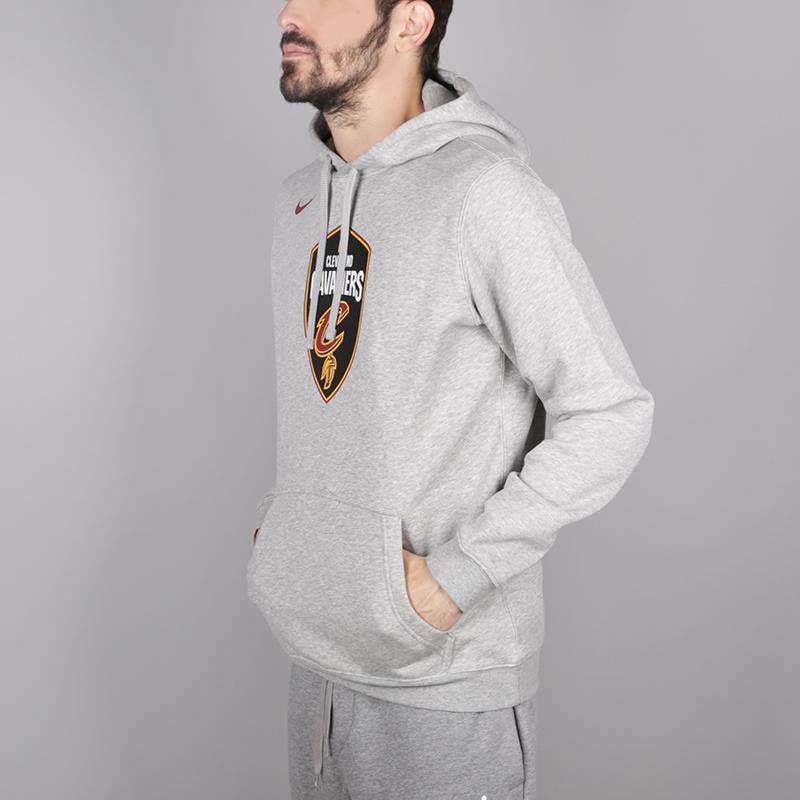 мужскую серую  толстовка nike cleveland cavaliers hoodie AA3655-063 - цена, описание, фото 2