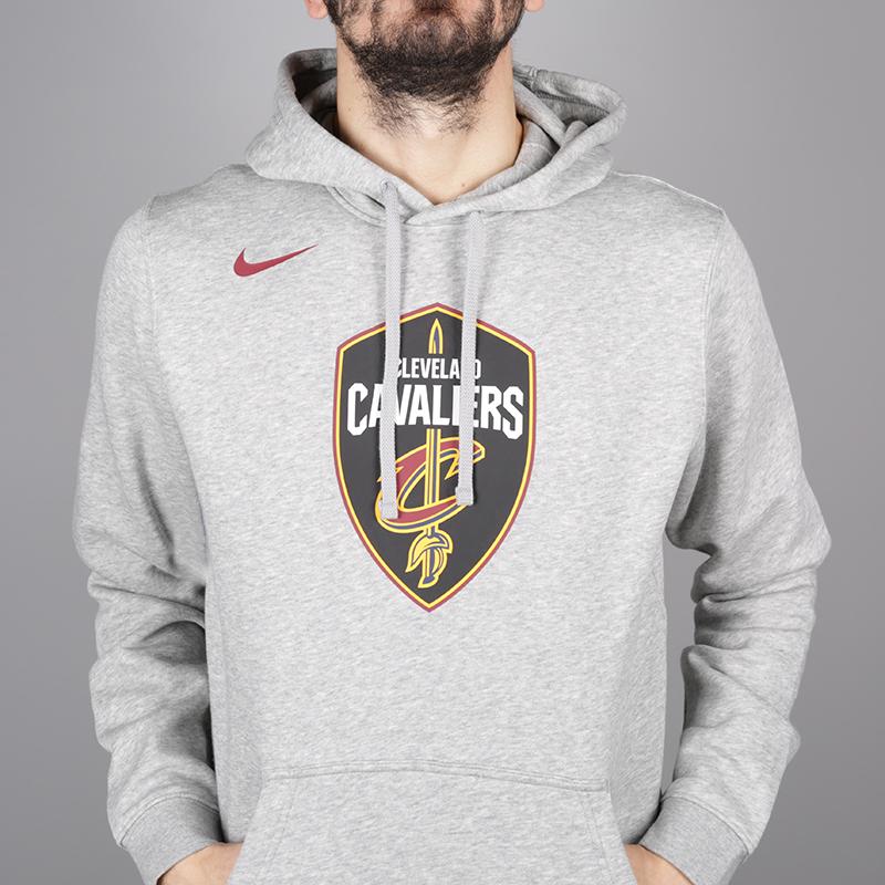 мужскую серую  толстовка nike cleveland cavaliers hoodie AA3655-063 - цена, описание, фото 4