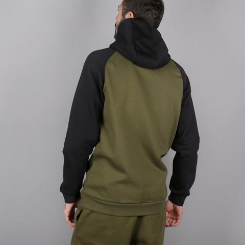 мужскую зелёную  толстовка jordan jumpman fullzip fleece 939998-396 - цена, описание, фото 4