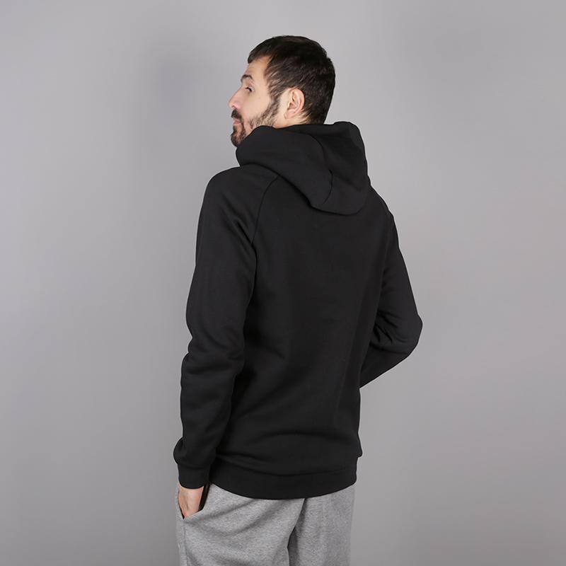 мужскую чёрную  толстовка jordan jumpman fleece pullover 940108-010 - цена, описание, фото 4