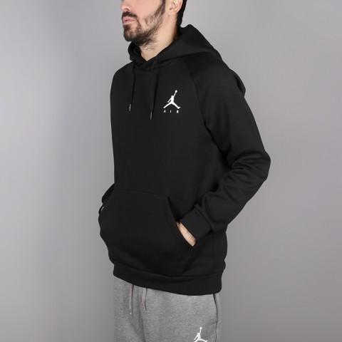 мужскую чёрную  толстовка jordan jumpman fleece pullover 940108-010 - цена, описание, фото 3