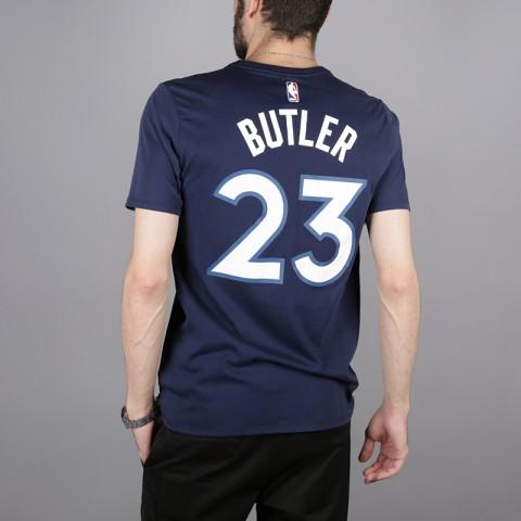 мужскую синюю  футболка nike jimmy butler minnesota timberwolves 870790-424 - цена, описание, фото 4