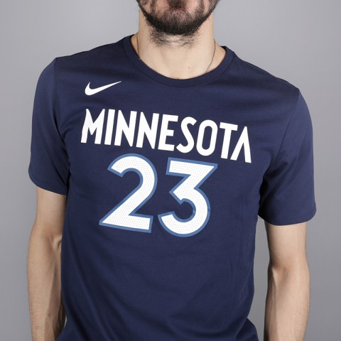 мужскую синюю  футболка nike jimmy butler minnesota timberwolves 870790-424 - цена, описание, фото 2