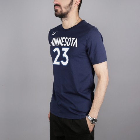 мужскую синюю  футболка nike jimmy butler minnesota timberwolves 870790-424 - цена, описание, фото 3