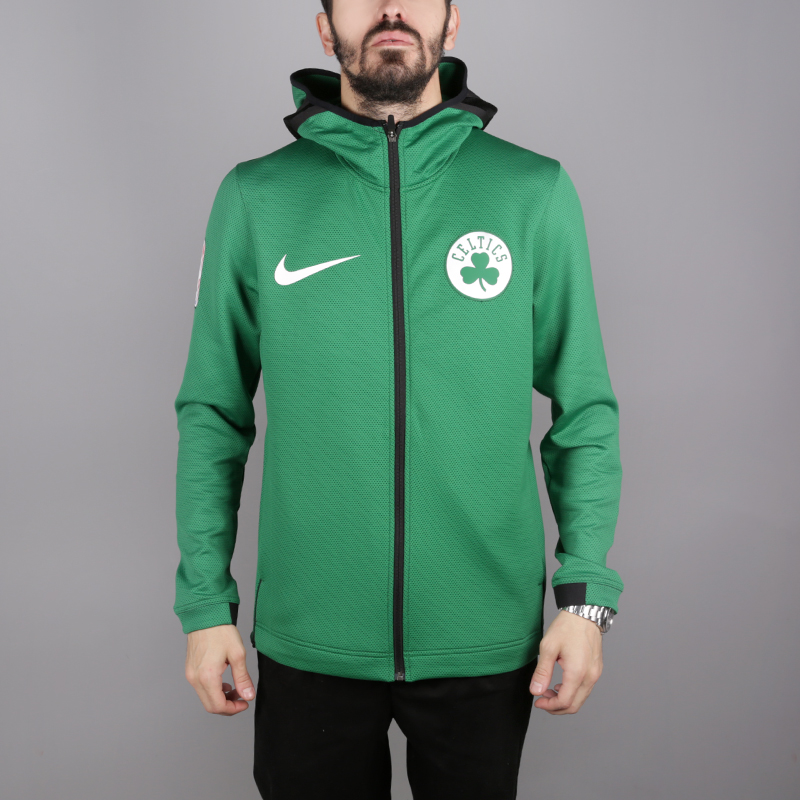 мужскую зелёную  толстовка nike boston celtics therma flex showtime 940114-312 - цена, описание, фото 1