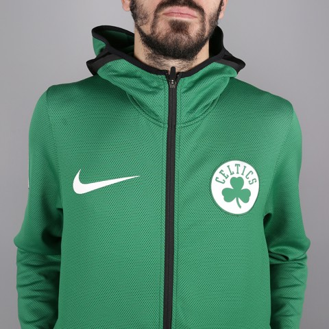 мужскую зелёную  толстовка nike boston celtics therma flex showtime 940114-312 - цена, описание, фото 2