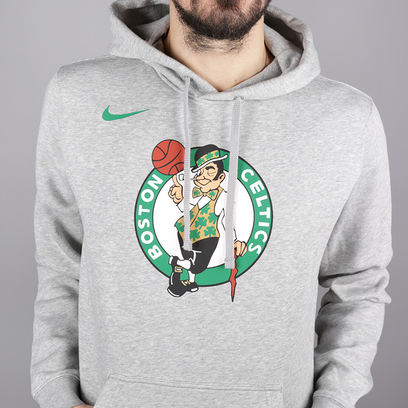 мужскую серую  толстовка nike boston celtics logo hoodie AA3649-063 - цена, описание, фото 2