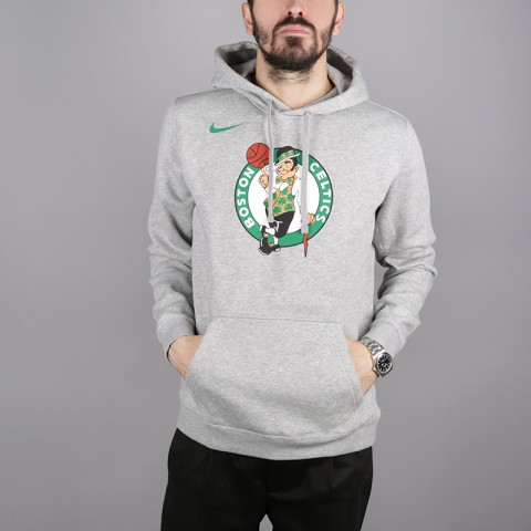 мужскую серую  толстовка nike boston celtics logo hoodie AA3649-063 - цена, описание, фото 1