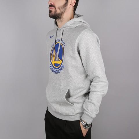 мужскую серую  толстовка nike golden state warriors logo hoodie AA3663-063 - цена, описание, фото 3
