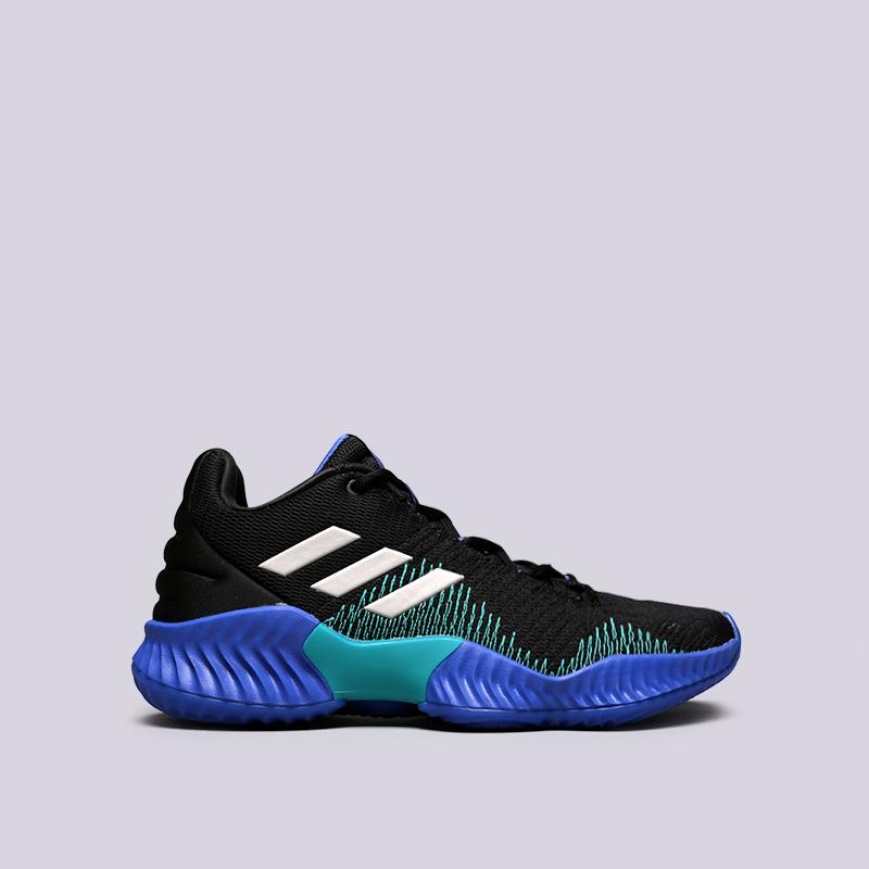 мужские чёрные  кроссовки adidas pro bounce 2018 low AC7427 - цена, описание, фото 1