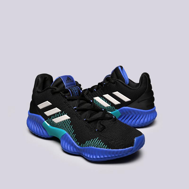 мужские чёрные  кроссовки adidas pro bounce 2018 low AC7427 - цена, описание, фото 2