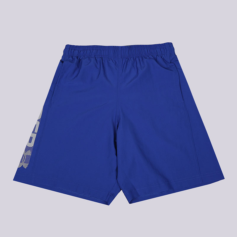 мужские синие  шорты under armour woven graphic wordmark short 1320203-400 - цена, описание, фото 1