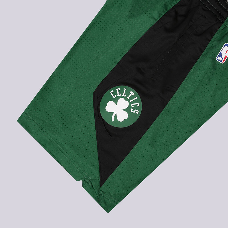 мужские зеленые  шорты nike dry nba practice shorts boston celtics AJ5050-312 - цена, описание, фото 2