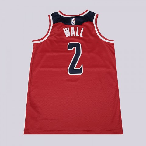 мужскую красную, белую, синюю  майку nike john wall icon edition swingman jersey 864515-657 - цена, описание, фото 4