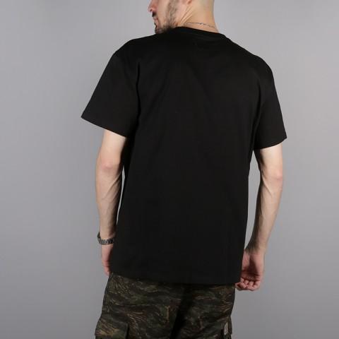 мужскую чёрную  футболка carhartt wip s/s chase t-shirt i026391-black/gold - цена, описание, фото 4