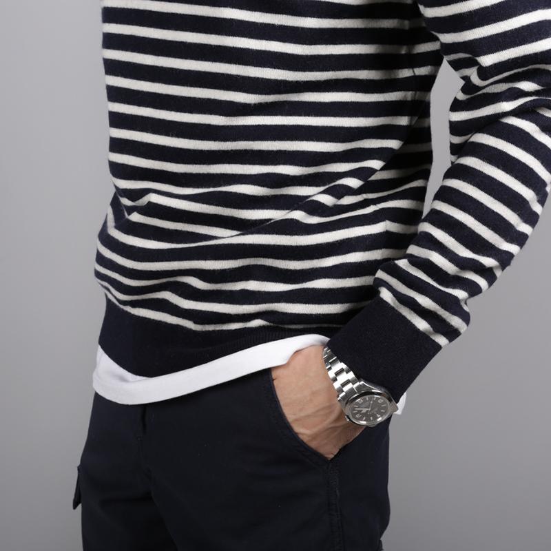 мужской синий  свитер carhartt wip roble sweater i025740-dr-navy/snow - цена, описание, фото 3
