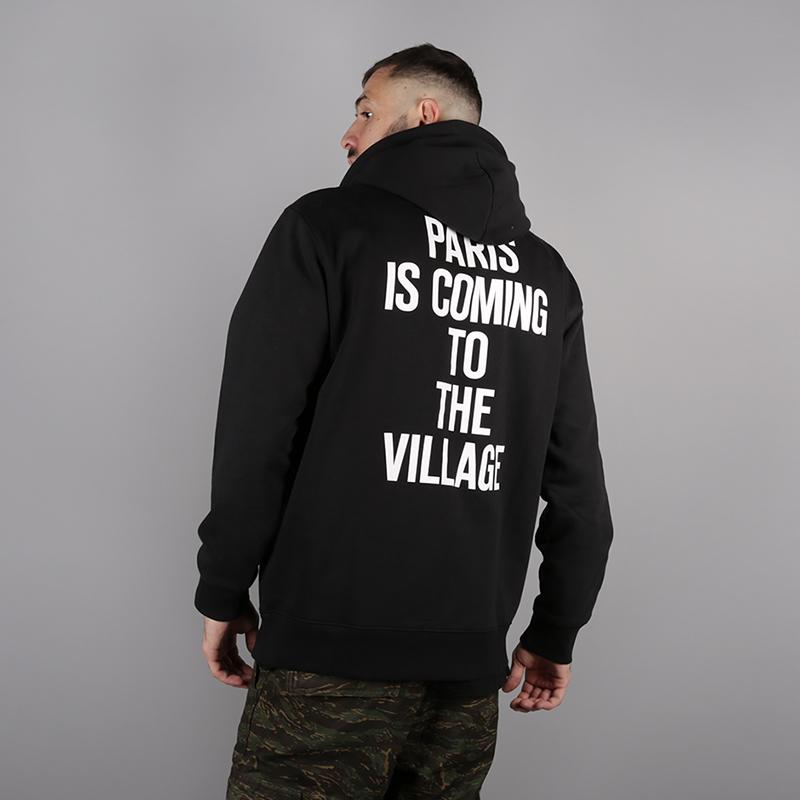 мужскую чёрную  толстовка carhartt wip hooded tvc paris sweat i025494-black/white - цена, описание, фото 2