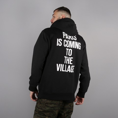 мужскую чёрную  толстовка carhartt wip hooded tvc paris sweat i025494-black/white - цена, описание, фото 2