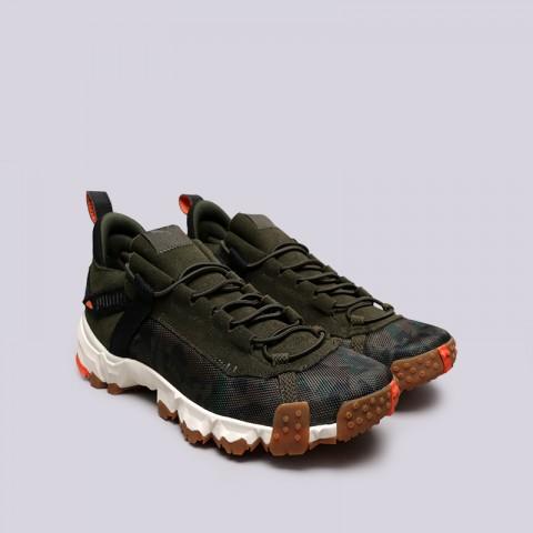 мужские зелёные  кроссовки puma trailfox camo 36678701 - цена, описание, фото 2