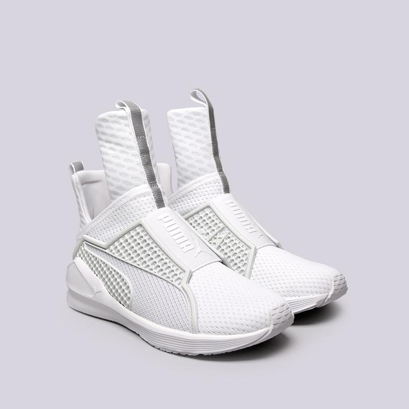 женские белые  кроссовки puma fenty trainer 18919302 - цена, описание, фото 3