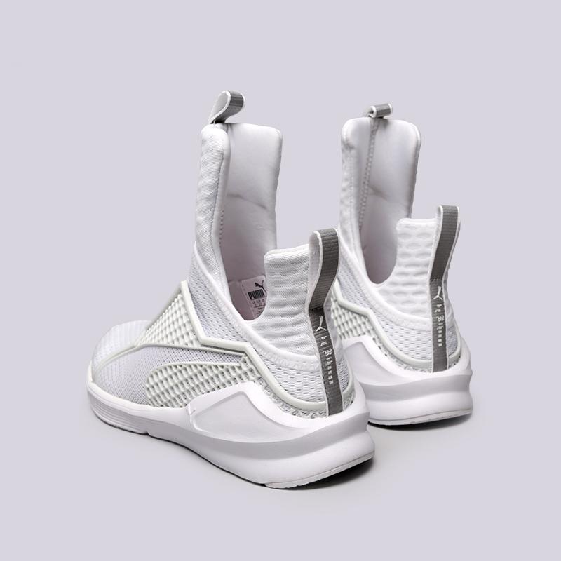 женские белые  кроссовки puma fenty trainer 18919302 - цена, описание, фото 4