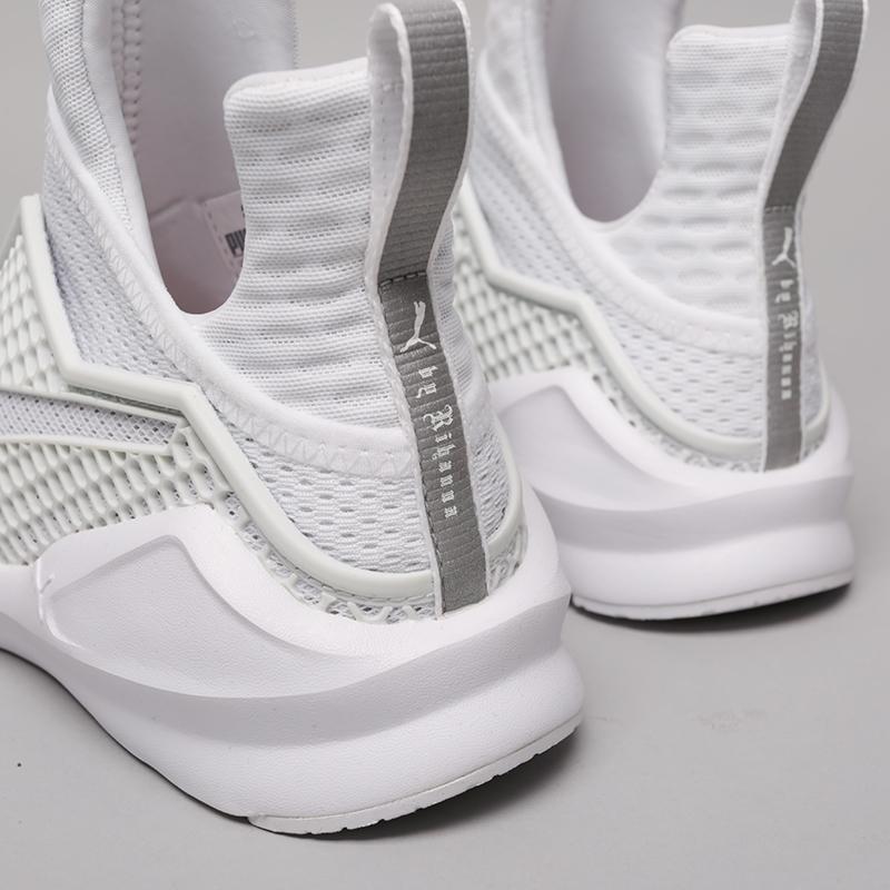женские белые  кроссовки puma fenty trainer 18919302 - цена, описание, фото 6