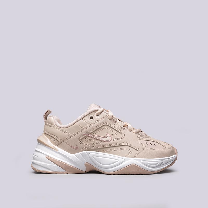 3704a836 женские бежевые кроссовки nike wmns m2k tekno AO3108-202 - цена, описание,  фото