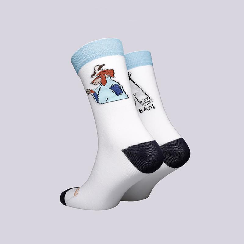 мужские белые  носки запорожец heritage шарик Шарик-18-бел - цена, описание, фото 2