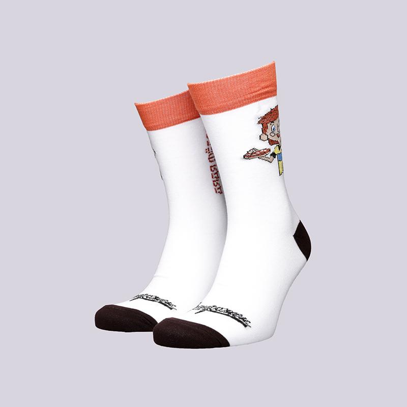 мужские белые  носки запорожец heritage дядя фёдор Дядя Федор-18-бел - цена, описание, фото 1