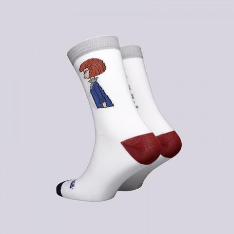 мужские белые  носки запорожец heritage мама Мама-18-бел - цена, описание, фото 2