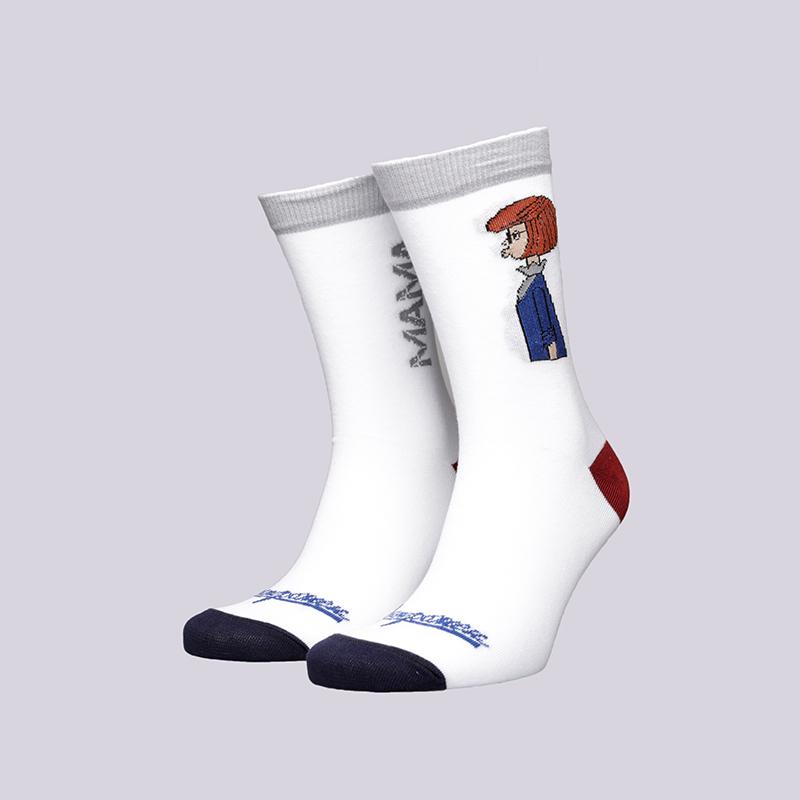 мужские белые  носки запорожец heritage мама Мама-18-бел - цена, описание, фото 1