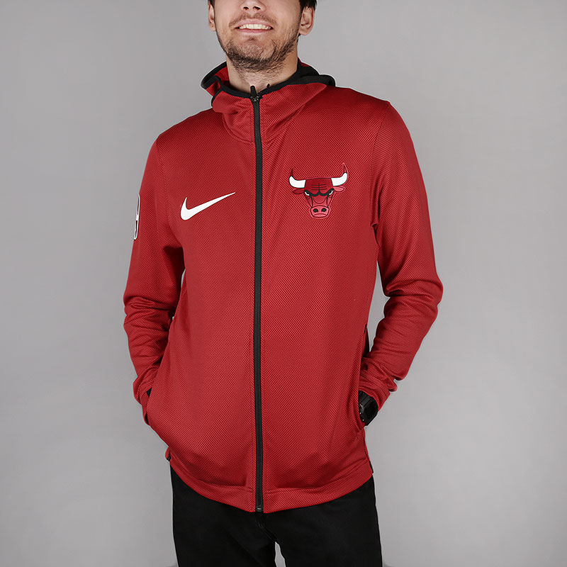 b713e05b478 мужскую красную толстовка nike chicago bulls therma flex showtime nba hoodie  940118-657 - цена