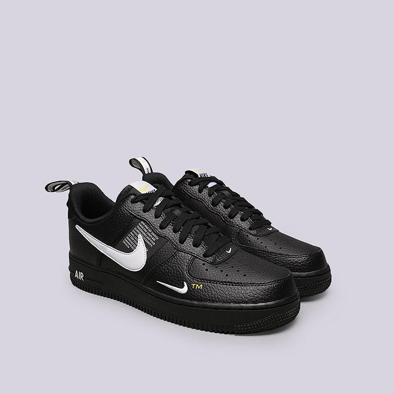 bf87b700 мужские черные кроссовки nike air force 1 `07 lv8 utility AJ7747-001 - цена
