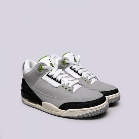 мужские серые  кроссовки jordan 3 retro 136064-006 - цена, описание, фото 2
