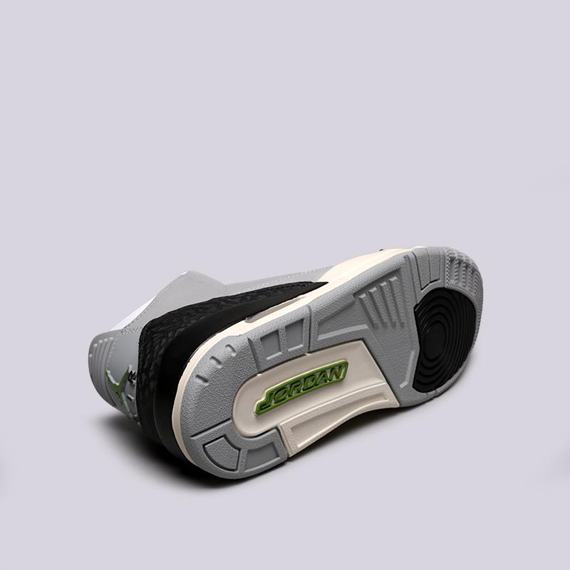 мужские серые  кроссовки jordan 3 retro 136064-006 - цена, описание, фото 4