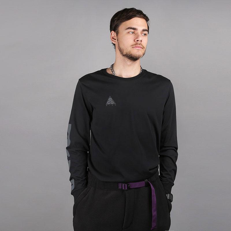 мужской черный  лонгслив nike acg men's long-sleeve t-shirt AQ3953-013 - цена, описание, фото 1