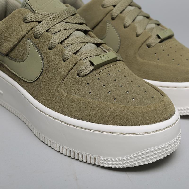 b0c6702f женские зелёные кроссовки nike wmns air force 1 sage low AR5339-200 - цена,