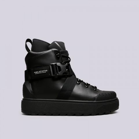 мужские чёрные  ботинки puma ren boot o.moscow 36710001 - цена, описание, фото 1