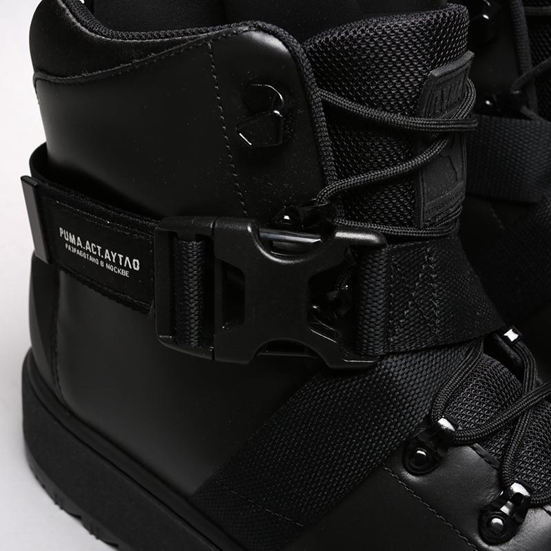 мужские чёрные  ботинки puma ren boot o.moscow 36710001 - цена, описание, фото 6