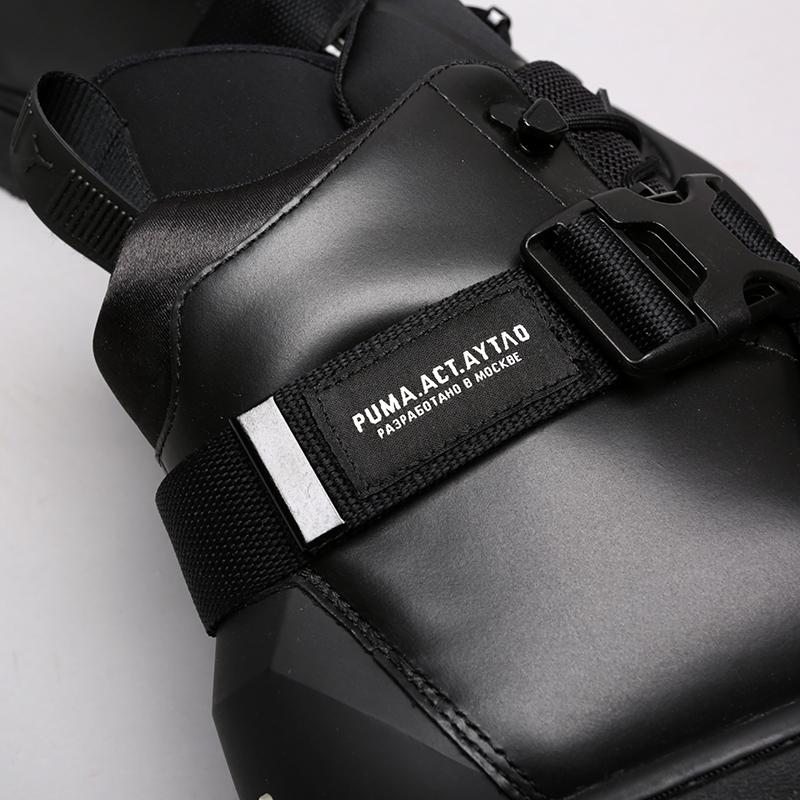 мужские чёрные  ботинки puma ren boot o.moscow 36710001 - цена, описание, фото 7