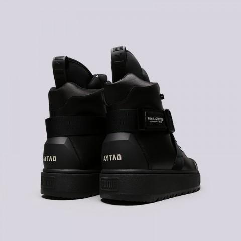 мужские чёрные  ботинки puma ren boot o.moscow 36710001 - цена, описание, фото 4