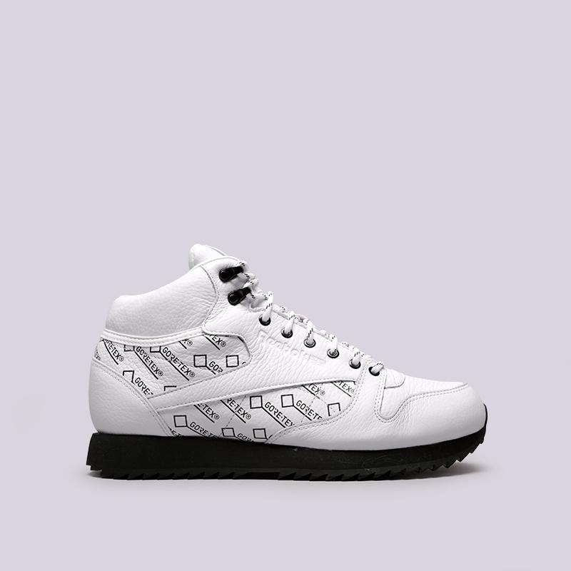db1083674fc5 мужские чёрные кроссовки reebok classic leather mid ripple gtx CN3950 -  цена, описание, фото