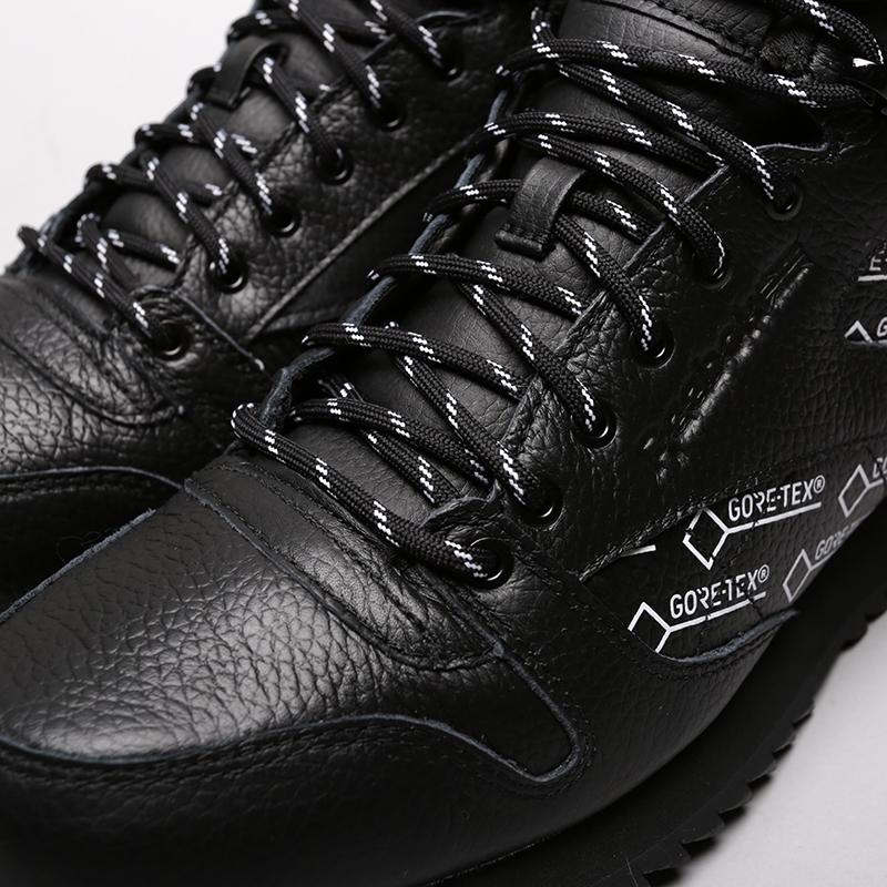 мужские чёрные  кроссовки reebok classic leather mid ripple gtx CN3949 - цена, описание, фото 5