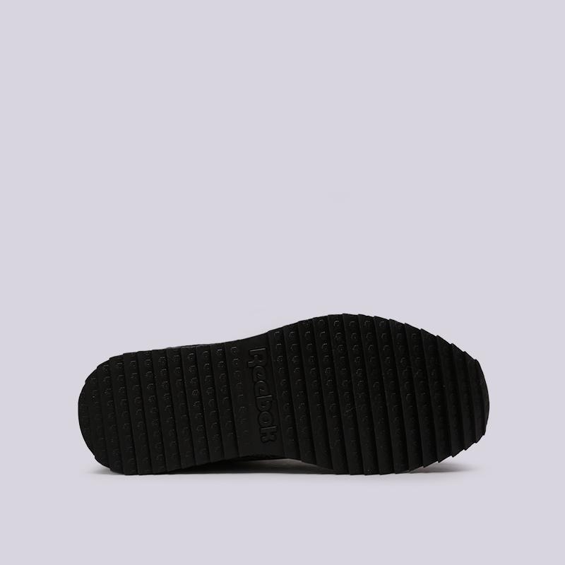 мужские чёрные  кроссовки reebok classic leather mid ripple gtx CN3949 - цена, описание, фото 2