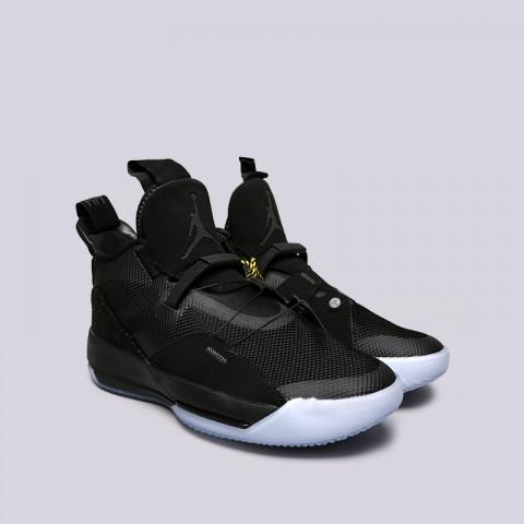 мужские чёрные  кроссовки jordan 33 utility blackout AQ8830-002 - цена, описание, фото 3
