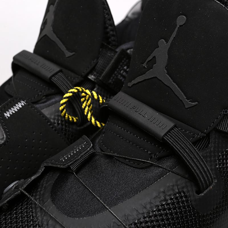мужские чёрные  кроссовки jordan 33 utility blackout AQ8830-002 - цена, описание, фото 6
