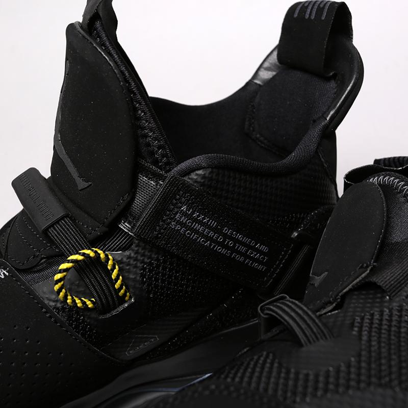 мужские чёрные  кроссовки jordan 33 utility blackout AQ8830-002 - цена, описание, фото 7